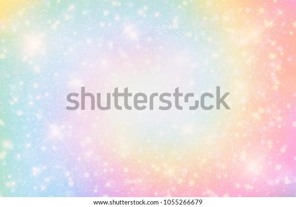 Illustration Holographic Fantasy Rainbow Background Pastel ...