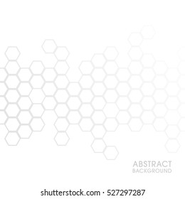Illustration of Honeycomb abstract background.