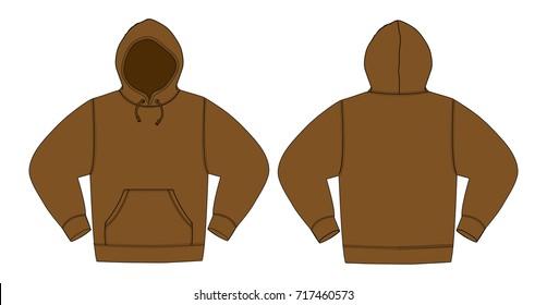 Illustration of hoodie (hooded sweatshirt)