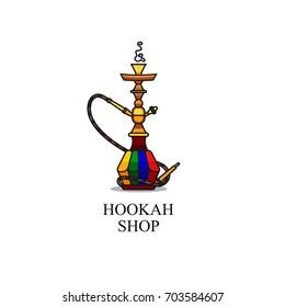 Illustration for hookah shop