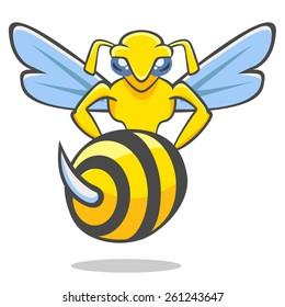 illustration of a hornet for emblems football teams