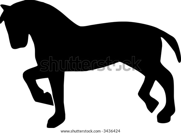 illustration of a horse walking