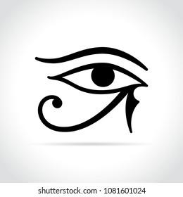 Illustration of horus eye icon on white background