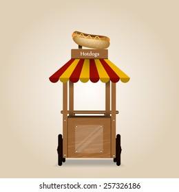 Illustration of a hotdog stand