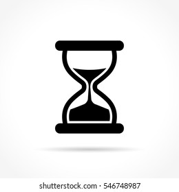 Illustration of hourglass icon on white background