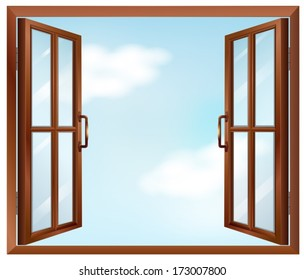 Illustration of a house window