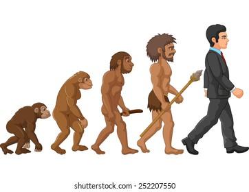 Illustration of human evolution