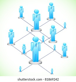 illustration of human figures connected in network