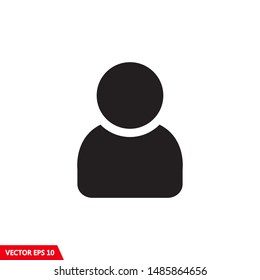 Illustration of human icon vector. User symbol icon