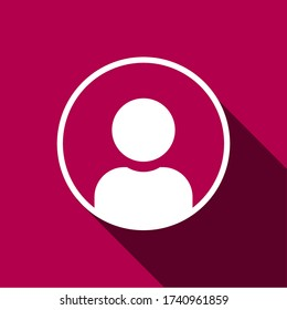 Illustration of human icon vector. User avatar symbol icon modern design color editable on blank background