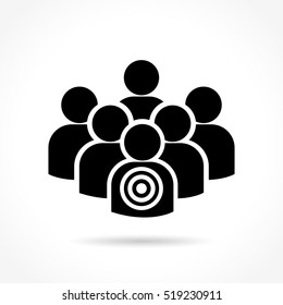 Illustration of human target icon on white background