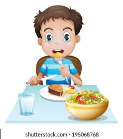 Imágenes Fotos De Stock Y Vectores Sobre Niños Comiendo Dibujo