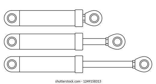 Illustration of the hydraulic cylinder or shock absorber set