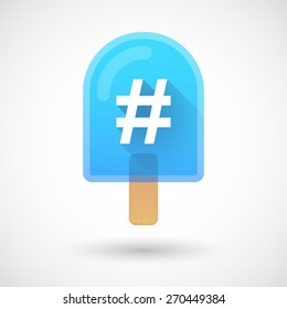 Illustration of an ice cream icon with a hash tag