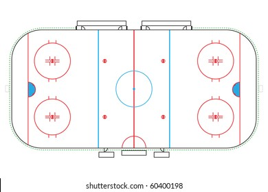 illustration of an ice hockey rink