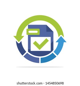Illustration icon with the concept of data recovery process