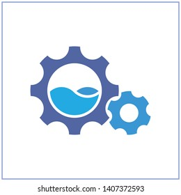 Illustration icon with the concept of water resources management