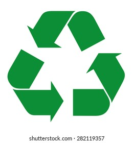 Illustration icon recycling symbol. Ideal for catalogs, informative and recycling guides