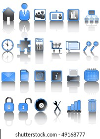 Illustration of icons set with shadow