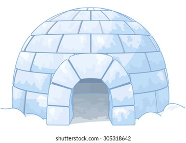 Illustration of an igloo
