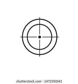 illustration. image of an optical sight, choose a target, take a shot