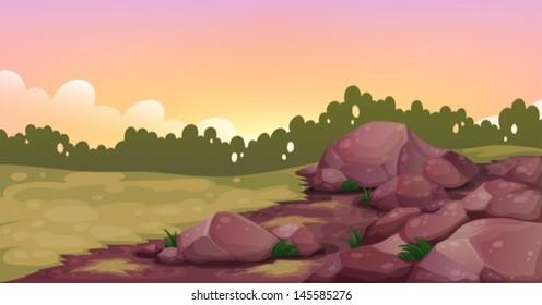 Illustration of an image of rocks