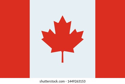 illustration image vector flag canada maple leaf