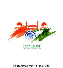 illustration of independence day   Famous monument of India in Indian background for 15th August