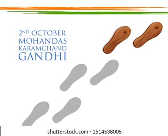 illustration of India background with Nation Hero and Freedom Fighter Mahatma Gandhi for Gandhi Jayanti