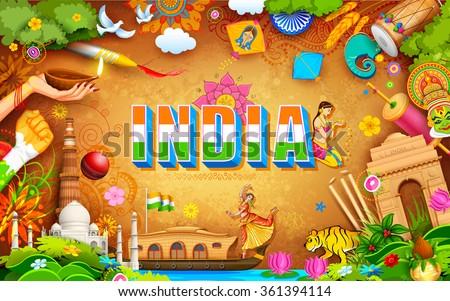 illustration of India background