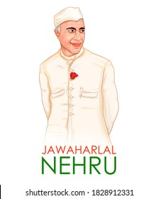 illustration of  Indian background with Nation Hero and Freedom Fighter Jawaharlal Nehru Pride of India for 14th November Happy Children's Day