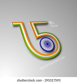 Illustration of Indian Independence day,15 August.