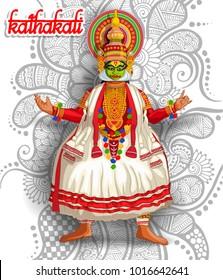 illustration of Indian kathakali dance form