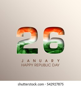 Illustration of Indian republic day,26 January vector.