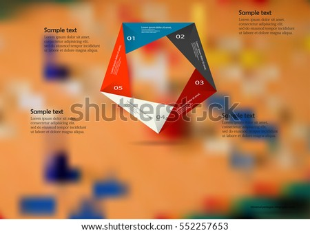 Illustration Infographic Template Motif Color Origami Stock Vector