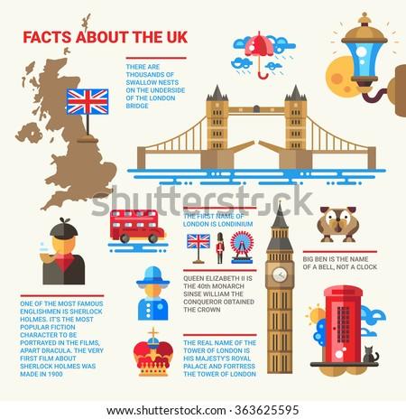 illustration information poster flat design united のベクター画像
