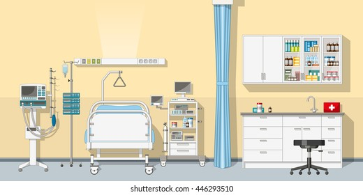 Illustration an intensive care unit