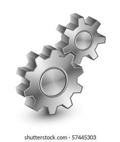 Illustration of interlocking gears
