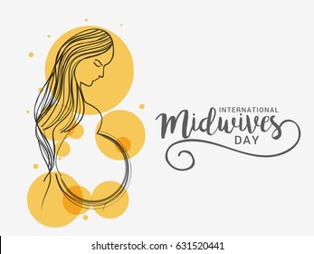 Illustration Of International Midwives Day.