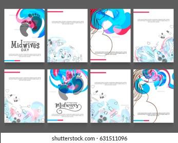Illustration Of International Midwives Day,Poster Or Banner Set.