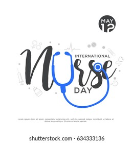 Illustration Of International Nurse Day Background.