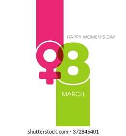 Illustration of International women's day,eighth of march.
