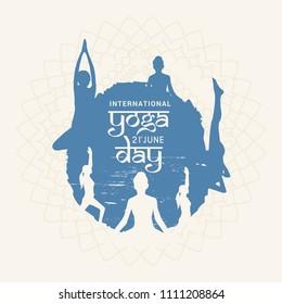 Illustration Of international yoga day.