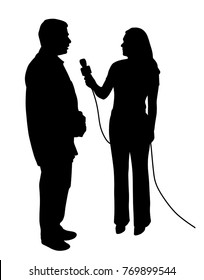 Illustration of an interview