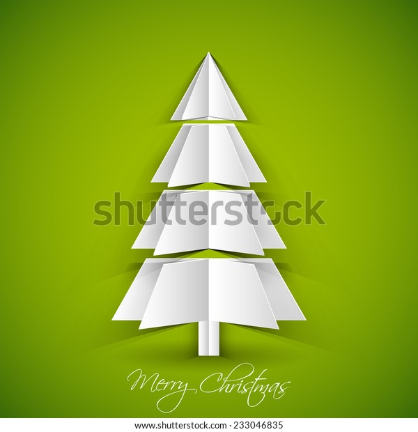 3d Paper Christmas Tree.Illustration Intricate 3d Paper Christmas Tree Stock Vector