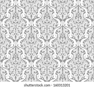Illustration of an intricate seamlessly tilable repeating Islamic motif vinatge pattern