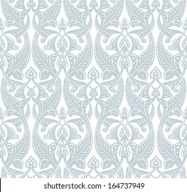 Illustration of an intricate seamlessly tilable repeating Art Nouveau background pattern