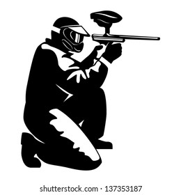 illustration of a ipaintball player