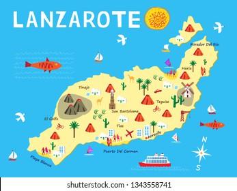 Imagenes Fotos De Stock Y Vectores Sobre Lanzarote Mapa