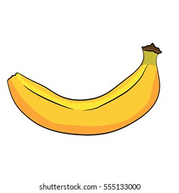 Illustration of Isolated Cartoon Banana. Vector EPS 8.